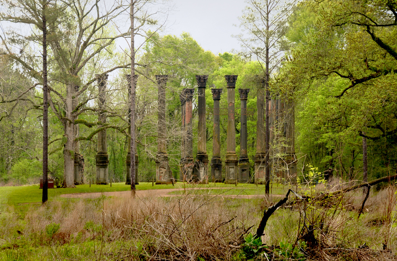 Deep in the forest along a winding road about 10 miles outside of Port Gibson stands the haunting remains of the Windsor estate, once one of the most magnificent homes in the pre-Civil War South.
