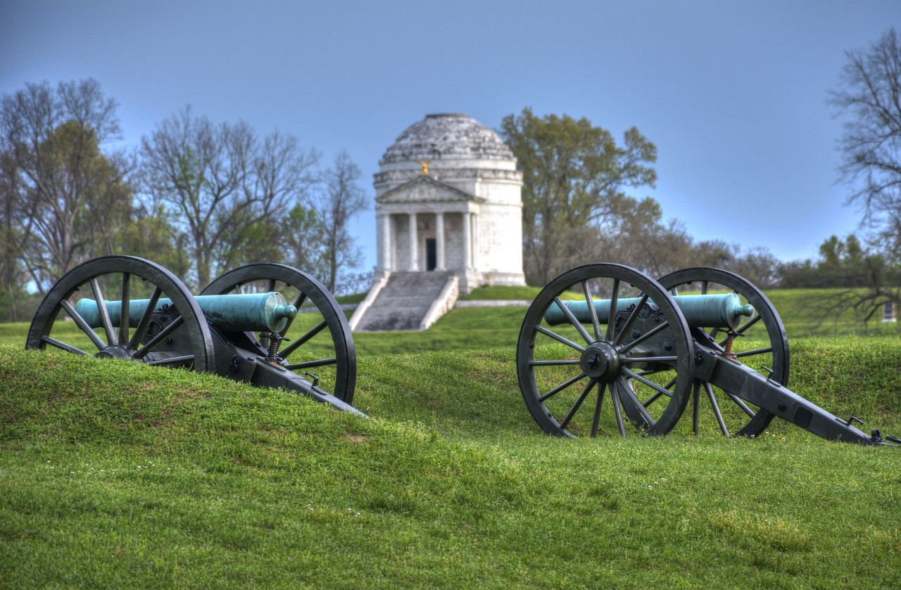 The battlefield surrounding Vicksburg was established as a national military park in 1899.