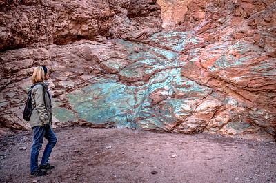 An example of copper deposits in one of the Valley's washes.