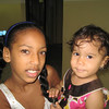 Cute kids - Daughter of church member (left) that had the most beautful eyes and eyelashes and Rosiebell (right), Benito & Rosa's grandaughter (Roxanna's daughter)