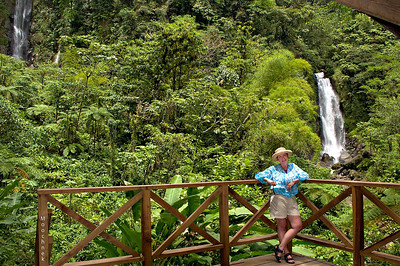 Beth between the 2 Trafalgar Falls