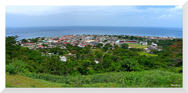 The Wonders Of Rousseau- a 3 shot Panorama of the capital city of Dominica.