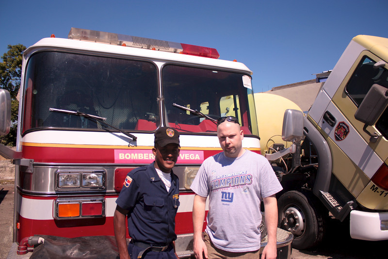 Me with one of the fire fighters from La Vega.