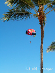 Parasailing at Punta Cana, Dominican Republic.