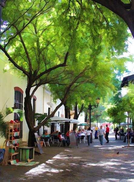 Santo Domingo Street Painted