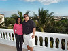 Umah and Gene Arganese pose on the massive deck at Casa Arganese
