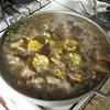 A big salcocho stew was dinner one night at Villa Carolisol.