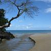 Inland stream emptying into the sea near Punta Bonita