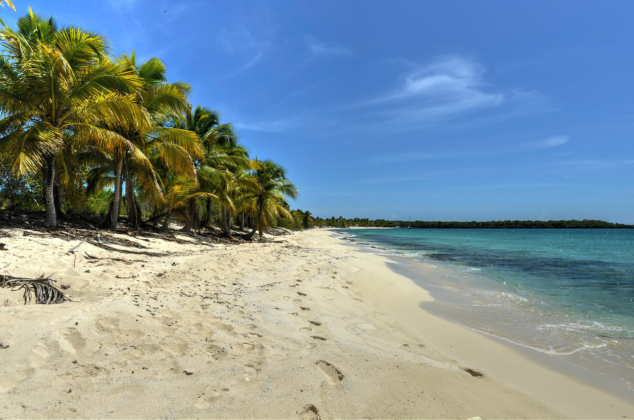 Beach along Isla Catalina, Dominican Republic