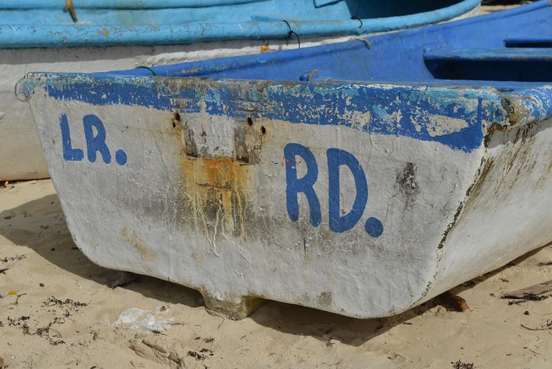 Boat of Macao Beach, Punta Cana, Dominican Republic