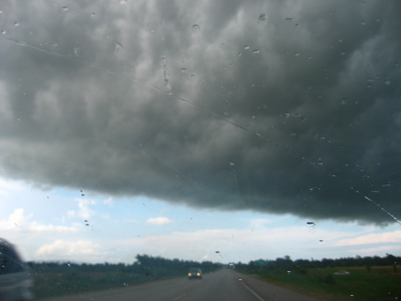Just as we were nearing the end of the highway, a storm descended on us. It was unfortunate timing, given we didn't know how treacherous the drive would be once we exited the highway....