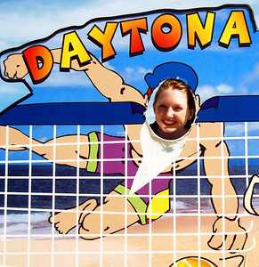 14 Volleyball teen girls at Daytona Beach