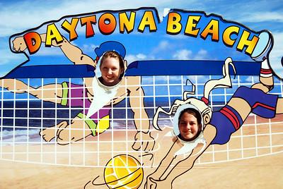 12 Volleyball teen girls at Daytona Beach