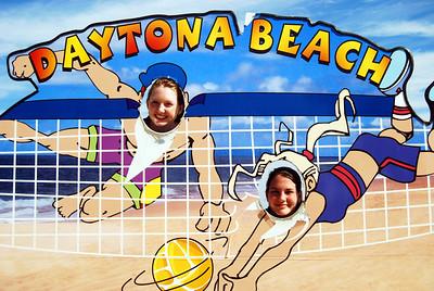 13 Volleyball teen girls at Daytona Beach