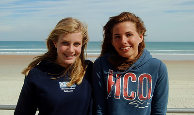 21 Volleyball teen girls at Daytona Beach