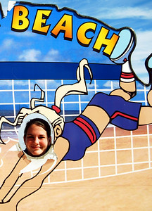 15 Volleyball teen girls at Daytona Beach
