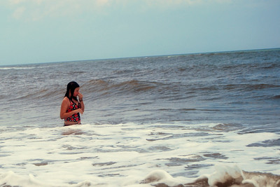 010 Haylee clearing her head of salt water