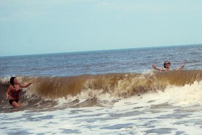 008 Rachel and Haylee in the surf