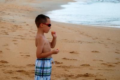 018 Trent having an ocean snack