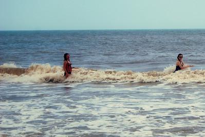 014 Rachel and Haylee in the surf