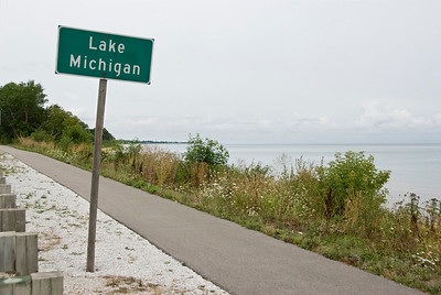 Lake Michigan. So you don't miss it.