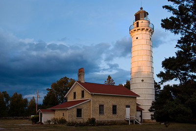 The Cana Island lighthouse, north of Bailey's Harbor in Door County, Wisconsin. A guidebook claimed that this is the most photographed site of Door County (although I suspect it's really a fish boil kettle somewhere). Here's our entry.