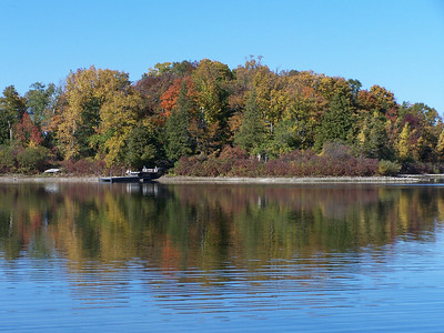 Small island across from the boat ramp in Potawatomi State Park.