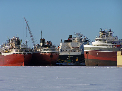 Ships wintering at Bay Shipbuilding