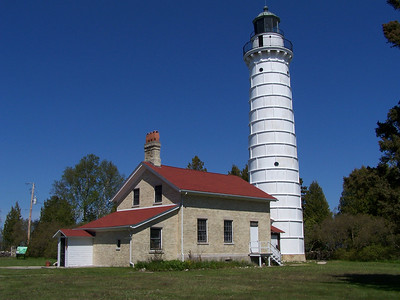 Classic view of Cana Island Lighthouse.