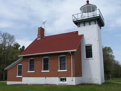 Sherwood Point lighthouse sits on the 30 foot bluff on Sherwood Point, just south of Sturgeon Bay, Door County, WI.