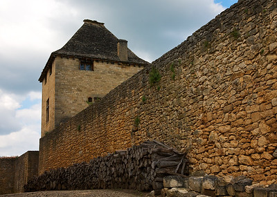 Inside Castle Walls of Beynac, a might fortress
