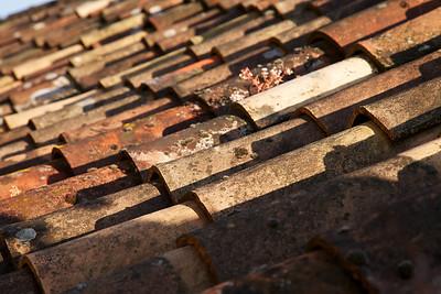 Rooftop Tiles of La Roque Gageac, detail