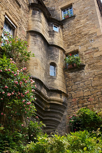 Sarlat Windows and Flowers in the lovely central France region.