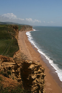West Bay in Dorset. The bands of grass, sand, surf and sea appealed.