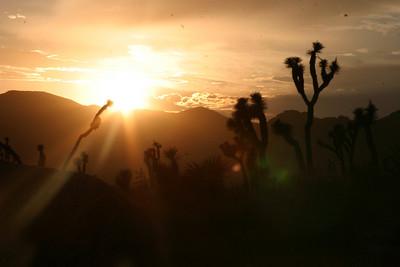 "The sun sets over Joshua Tree National Park's ""Hall of Horrors"" (no really)."