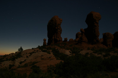 Arches National Park at dawn.
