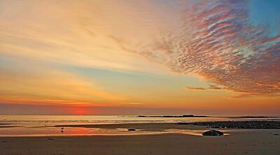 Sunrise on Wells Beach, Maine