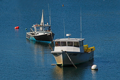 Moored Lobster Boats