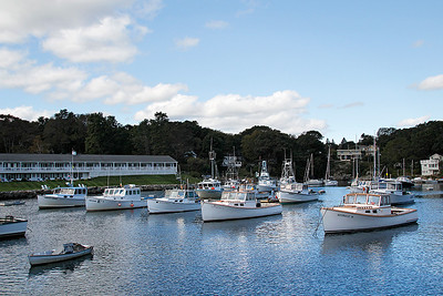 Perkins Cove Harbor  -  The Lobstermen are taking a day off....