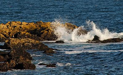 Surf on the Nubble Light Rocks
