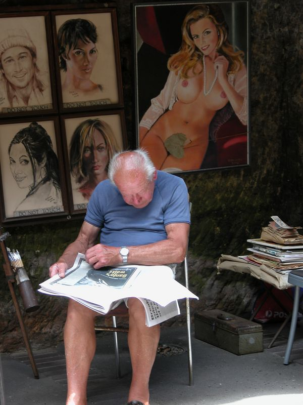 "Artist at ""The Rocks"""