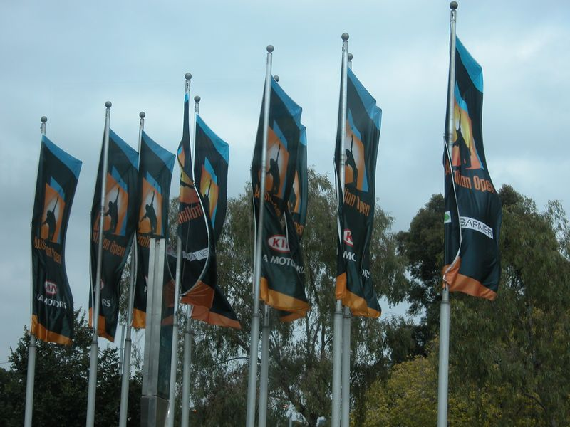 Flags of the Austrailian Open Tennis Tournament