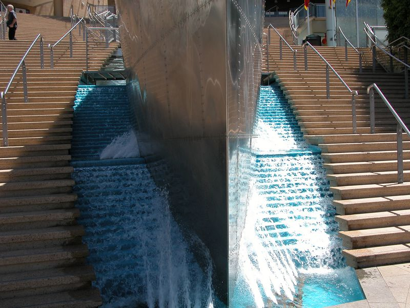 Fountain outside the Casino in Sydney.