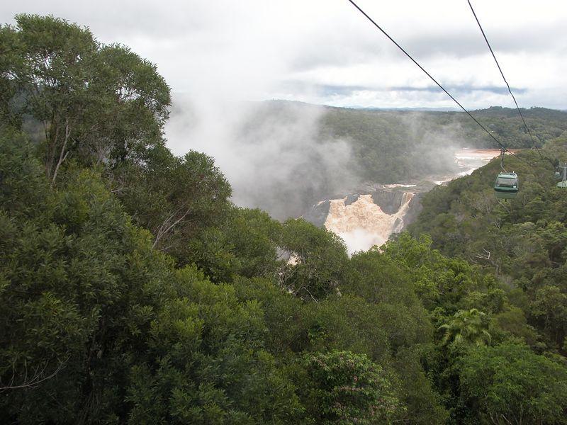 Mist coming from the Kuranda falls