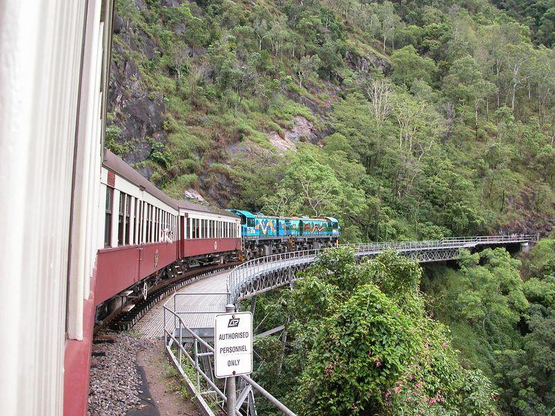 On the train going to Kuranda