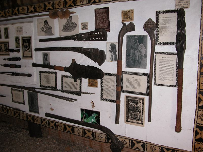 At the Fijian Cultural Center.  Weapons used by the natives.