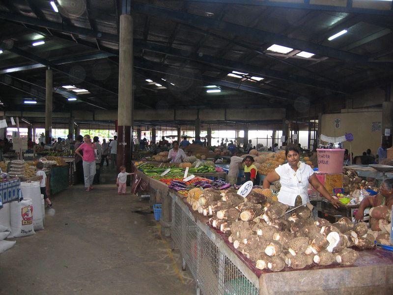 At the Farmer's Market.