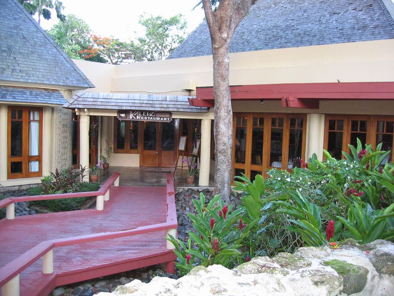 Walkway along the Shangra La Resort