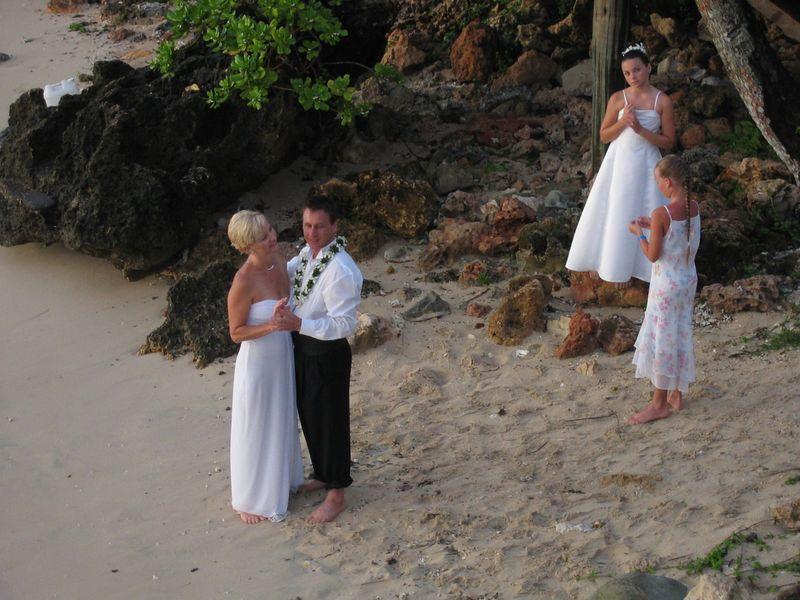 Wedding on the Fiji Beach