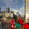 Santa Clauses in Melbourne